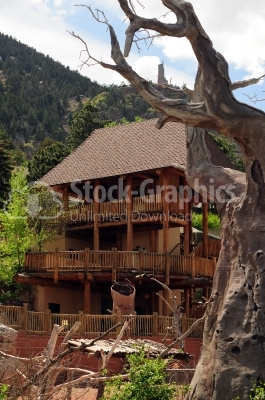 Old wooden House at mountain