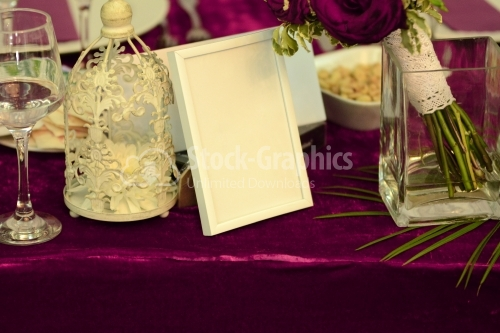 Photo frame for a wedding