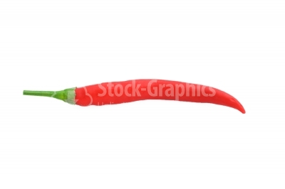 Red chilli pepper isolated on white background