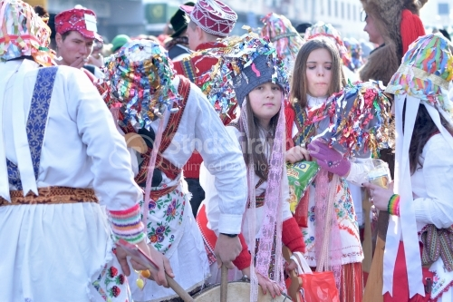 Romanian rituals performed by participants with bells, sticks and drums making noise to dispel the malevolent spirits.