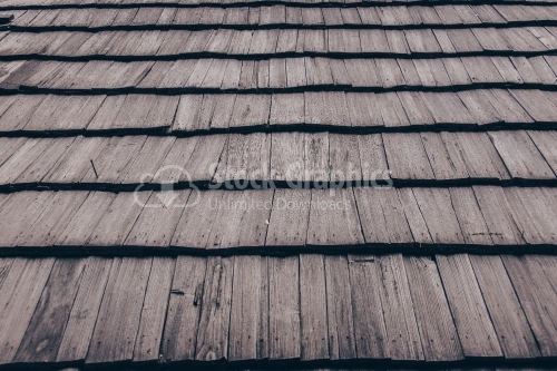 Roof pattern with old wood tiles