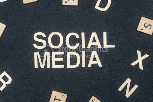 SOCIAL MEDIA word written on dark paper background. SOCIAL MEDIA text for your concepts