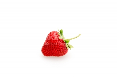 Strawberry close-up on a white background