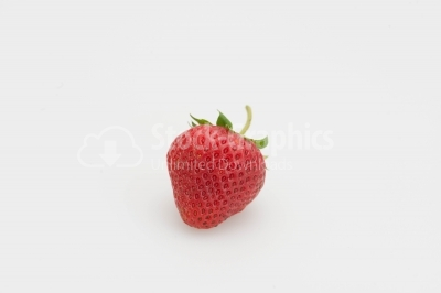 Strawberry on white background close-up