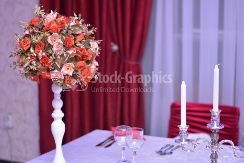 Table arrangement for wedding