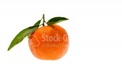 Tangerine isolated on white