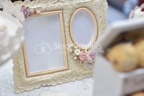 Two photo frames for wedding