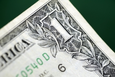 USA dollars on green background