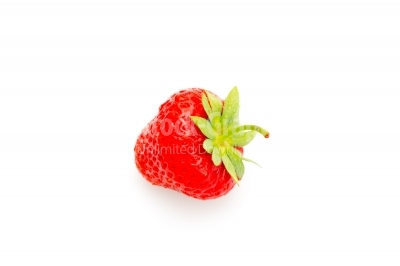 Vibrant coloured strawberry