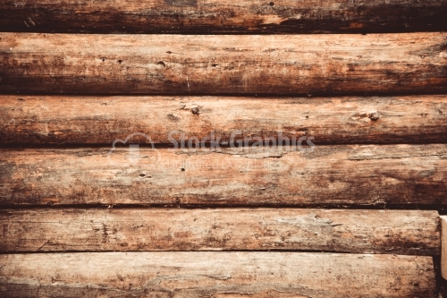 Wall of a wooden house