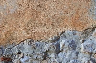 Wall texture with double plaster