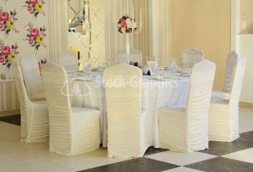 Wedding table with luxury details