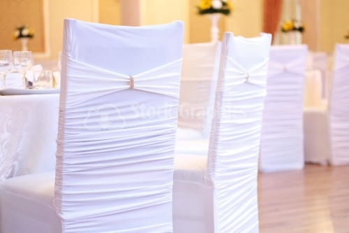 White chair for wedding