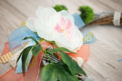 White flower decoration