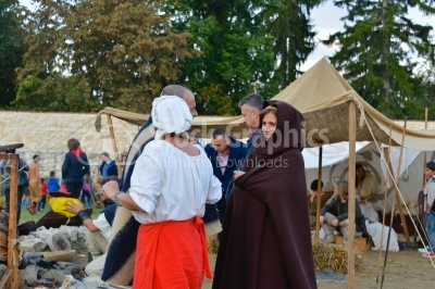 Womens participating on a medieval festival