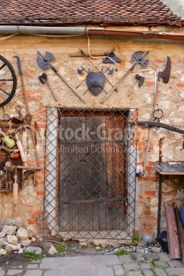 Wooden old doors from ancient times