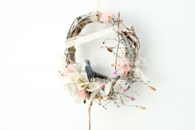 Wreath of Flower on the white background