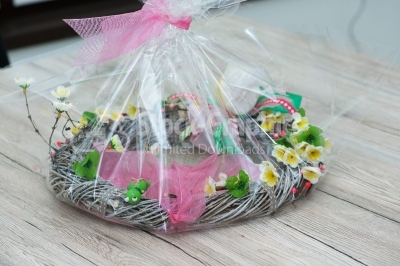 Wreath packaged