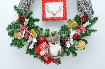 Wreath with tag for text
