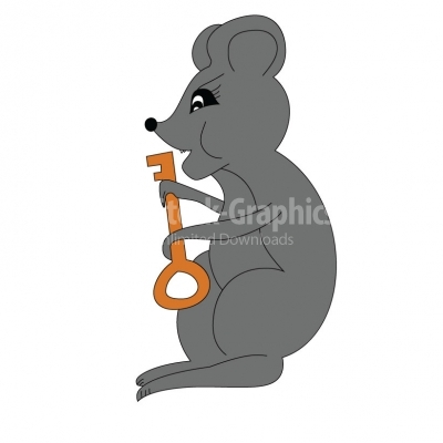 Bad Mouse holding a key