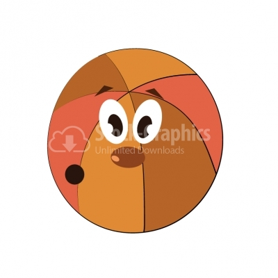Basket Ball Cartoon - Illustration