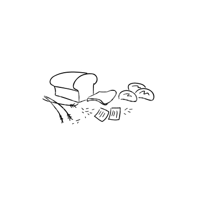Bread Lineart Vector Clipart