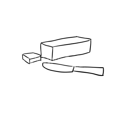 Butter Lineart Vector Clipart Clipart Design Elements