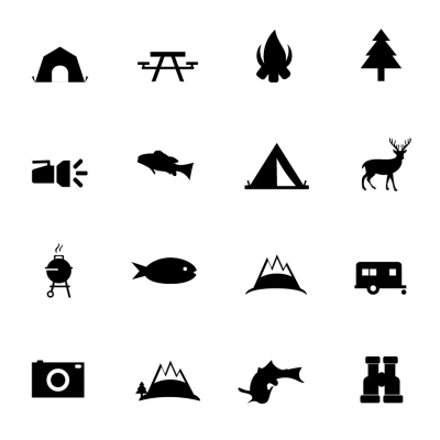 Camping vector icons - Illustration
