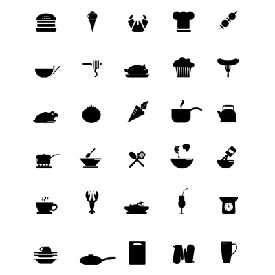 Cooking Icons - Black Series - Illustration