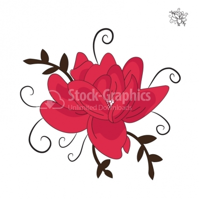 Decorative flower - Illustration