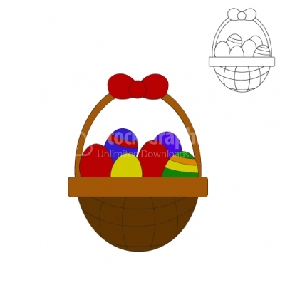 Easter basket - Illustration