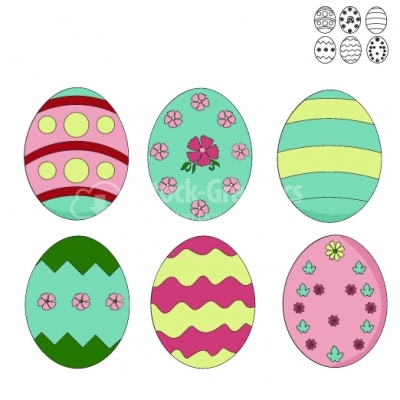 Easter Eggs - Illustration