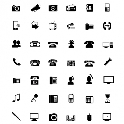 Electronics icons  - Illustration