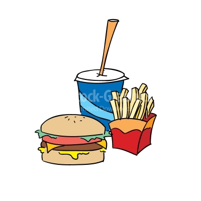 Fast Food Colorful Vector Clipart