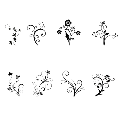 Floral decorative vectors