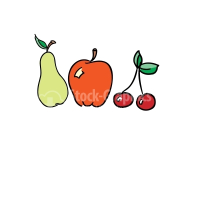 Fruits Colorful Vector Clipart