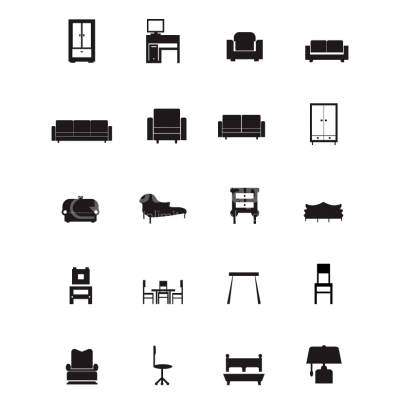 Furniture Icons - Illustration