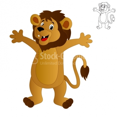 Lion cartoon - Illustration