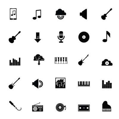 Music & Audio icons - Illustration