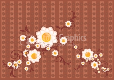 Ornamental flower vector background
