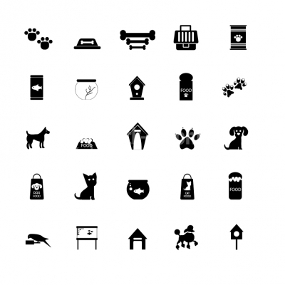 Pet icons - Illustration