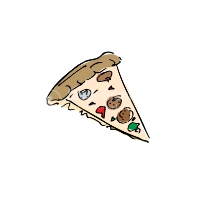 Pizza Colorful Vector Clipart