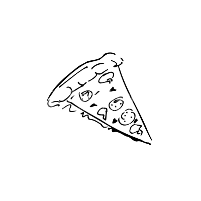 Pizza Lineart Vector Clipart