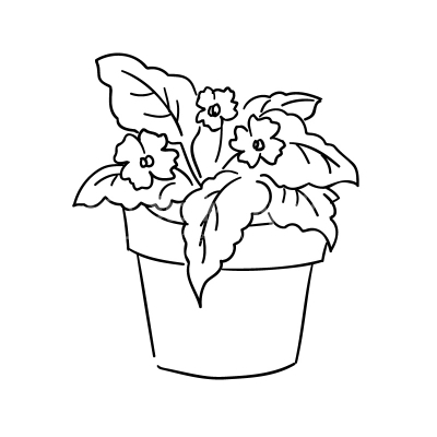 Potted Plant - Clipart - Design Elements - Stock Graphics