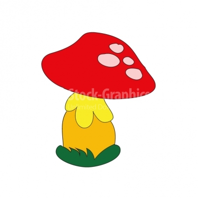 Red mushroom - Illustration