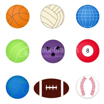 Sports ball set - Illustration