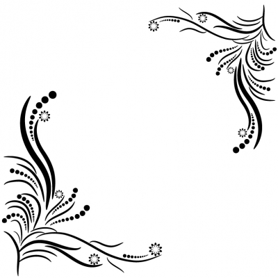 Swirl floral ornament - Illustration