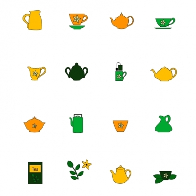 Tea accessories - Illustration